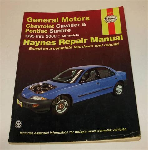 book repair manual 1994 chevrolet cavalier regenerative braking haynes 38016 manual general motors chevrolet cavalier pontiac sunfire 1995 2000 automotive