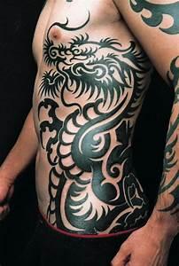 Tribal Japanese Dragon Rib tattoo | Tattoos | Pinterest ...