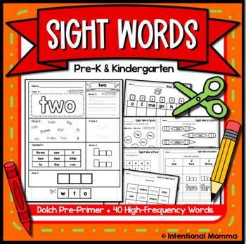 sight words  alphabet  preschool  intentional
