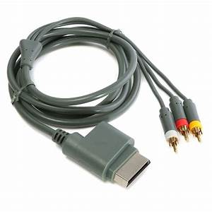 AV Audio Video Composite Cable Cord RCA Cable For XBOX 360