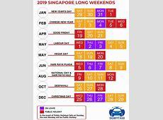 Public & School Holidays Singapore 2018 & 2019 18 Long