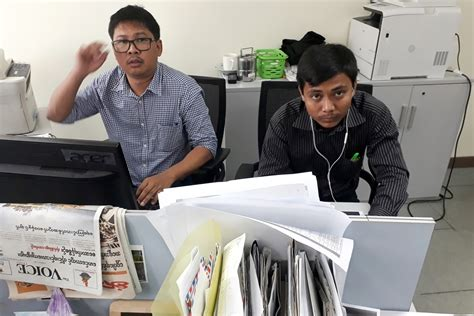 Reuters reporter charged in Myanmar