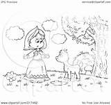Talking Coloring Outline Fawn Royalty Clipart Illustration Bannykh Alex Rf Copyright Regarding Notes sketch template