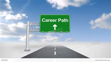 Career Path Sign Over Open Road Stock Animation  6359606. July Signs. Refill Station Signs Of Stroke. 2d 4d Signs. Luau Signs Of Stroke