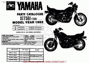 Yamaha Xj750 Maxim 1982  C  Usa   Title  Parts Catalog