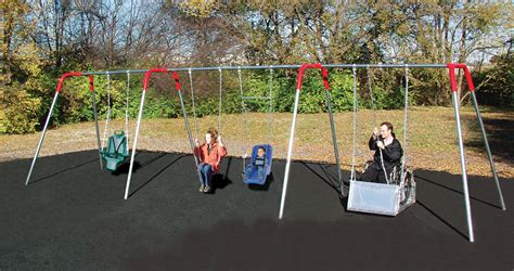 handicap swing wheelchair accessible swings playground equipment for