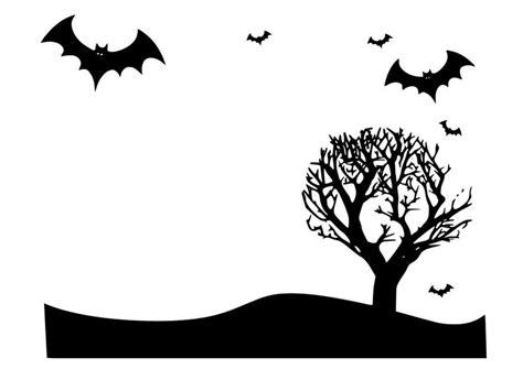 dibujo  colorear paisaje de halloween img