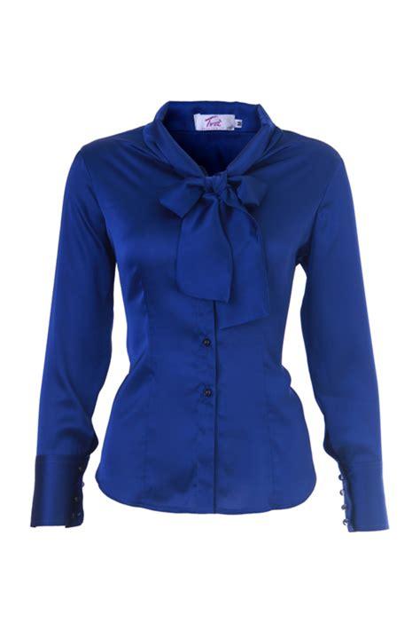 blue blouse royal blue bow blouse silk blouses