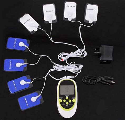 Multi functional dual output massager 8 electrode pads