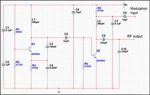 Basic Low Power Am Transmitter Circuit Schematic Diagram