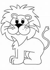 Lion Coloring Pages Cute Easy Tulamama sketch template