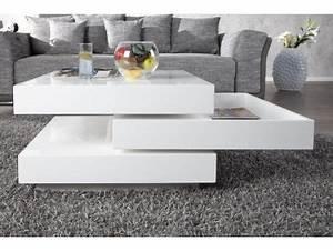 Table Basse Carrée Blanc Laqué : table basse blanc laque ikea table de lit ~ Teatrodelosmanantiales.com Idées de Décoration