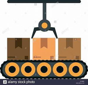 assembly line industrial machine icon image Stock Vector ...