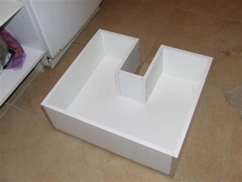 montage plinthe cuisine projet cuisine 9 les tiroirs brico info le de