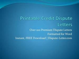 printable credit dispute letters With instant credit repair letters