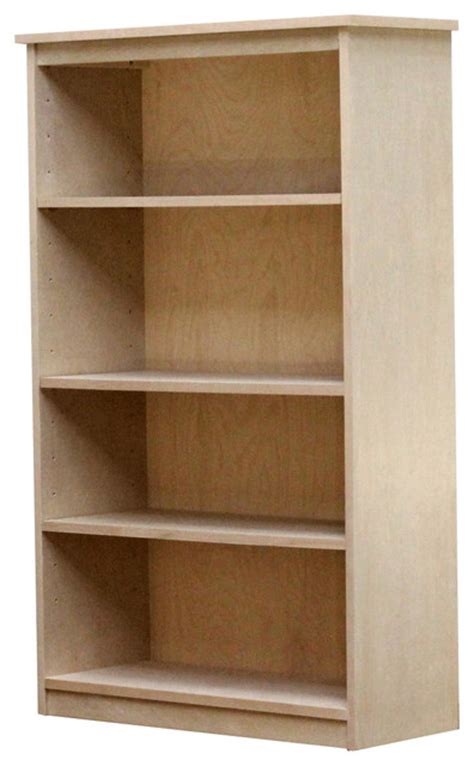 Birch Bookcases by Birch Bookcase With Three Shelves Contemporary