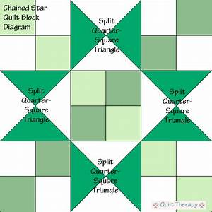 Chained Star Quilt Block Diagram Free Pattern At