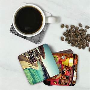 Set, Of, Four, Personalised, Photo, Drink, Coasters, By, Paperhappy
