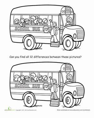 what is the difference between nursery school and preschool spot the difference back to school worksheet 450