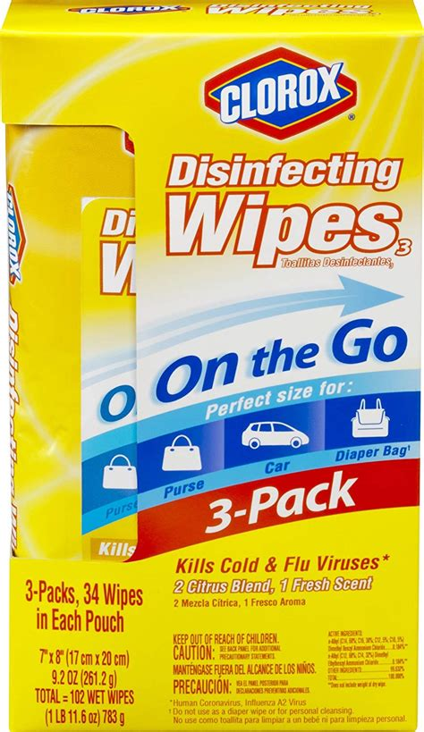 Clorox Disinfecting Wipes On The Go Value Pack, Fresh