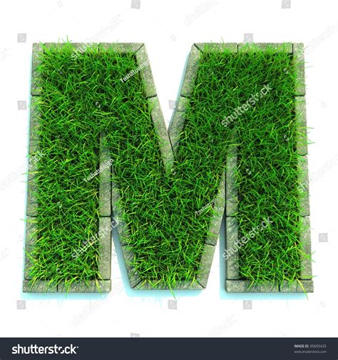 and numbers letter a made of grass stock beautiful letters and numbers made of grass and