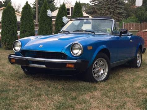 1982 Fiat Spider 2000 by 1982 Fiat Spider 2000 Phiarena For Sale In Zion Illinois