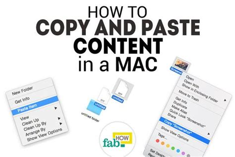 how to quickly copy and paste content in a mac fab how