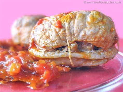 cuisiner paupiette de veau paupiette de veau à la tomate fiche recette