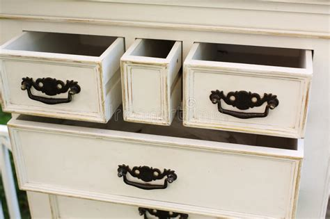 Vintage Wooden Chest Of Drawers With Black Metal Handles Open Stock Image Malm Bed Frame With Drawers Review Osco Acrylic 3 Drawer Storage Box Medium How To Make Slides In Android Mirrored Accent Table Soft Closers Retro Which Do I Put Fabric Conditioner Building Wooden Runners Nz