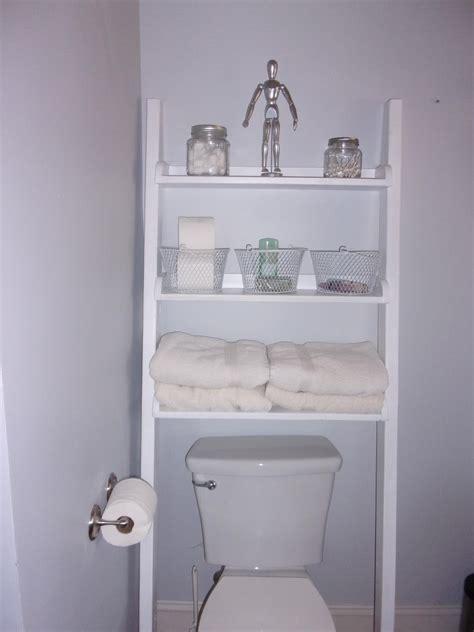 leaning ladder  toilet shelf ana white