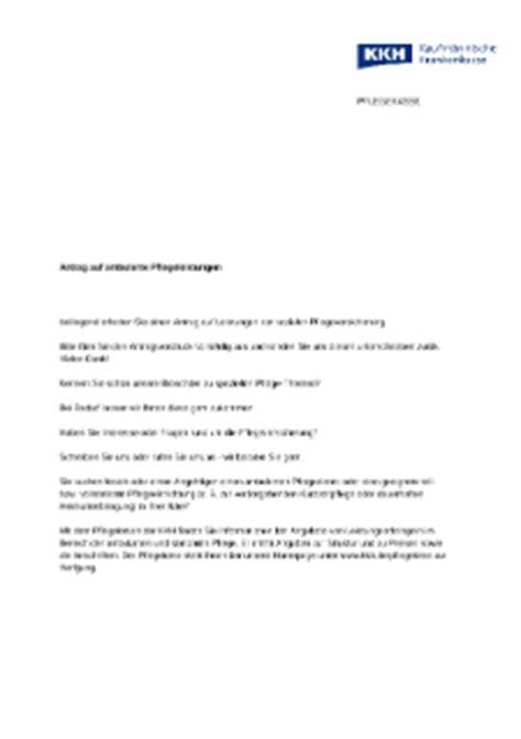 antraege formulare und broschueren zum thema pflege kkh