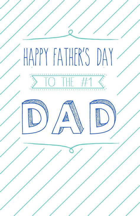 Father's day was first celebrated after the worst mining accident in u.s. Free Printable Father's Day Cards