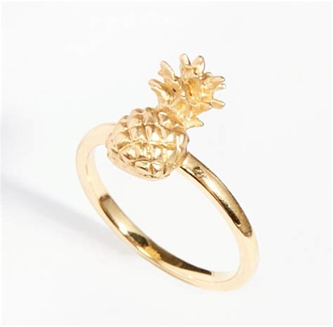 pineapple ring fashion jewellery