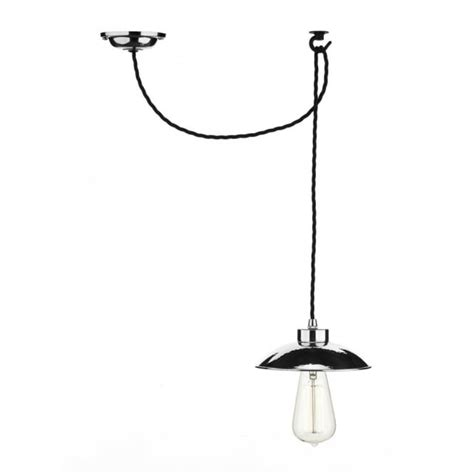 industrial style hanging ceiling pendant in chrome with