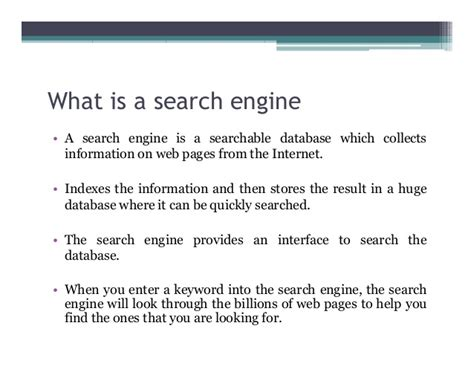 Explain Search Engine by Search Engine And Web Crawler