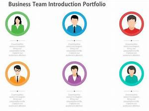 App Business Team Introduction Portfolio Diagram Flat