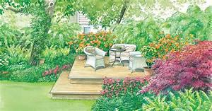 Gartengestaltung Unter Bäumen : sitzplatz unter b umen gestalten mein sch ner garten ~ Yasmunasinghe.com Haus und Dekorationen