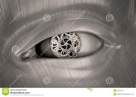 interieur de l oeil trains m 233 caniques 224 l int 233 rieur de l oeil d un robot photographie stock libre de droits image
