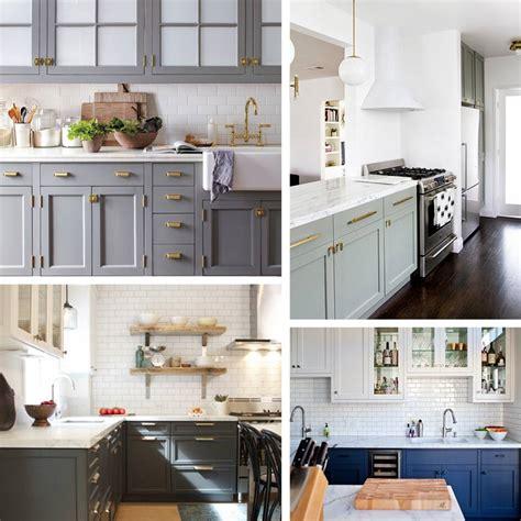blue backsplash kitchen kitchen trend painted cabinets and brass hardware