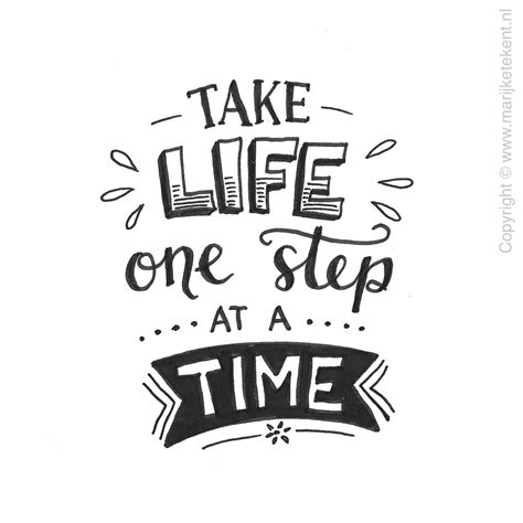 life  step   time journaling hand lettering