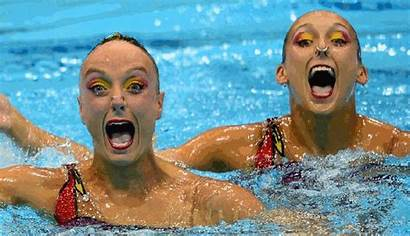 Swimmers Synchronized Timed Perfectly Olympics Awful Swimming