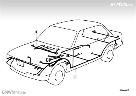 wiring harness bmw 3 e30 318i m10 bmw parts catalog