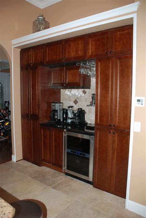 installing wine cooler in existing cabinet kitchens creative rr