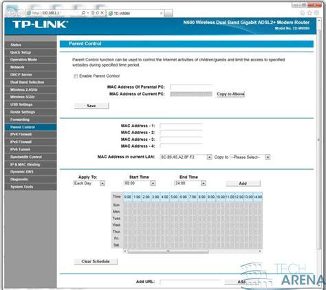 TP-Link TD-W8980 Software e interfaccia grafica 37   TechArena
