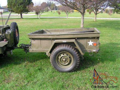 military jeep trailer willys m38 a1 military jeep 1953 with matching trailer