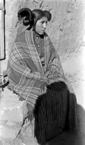 Navajo and Hopi Women Hair Dress