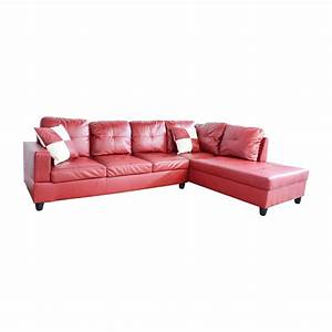 76 off beverly furniture beverly furniture red faux With used red sectional sofa