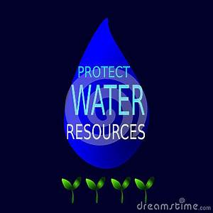 Protect Water Resources Stock Illustration - Image: 41498052
