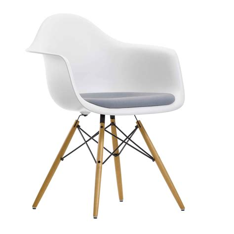 Designer Stuhl Eames by Vitra Eames Chair Daw Plastic Upholstered Armchair