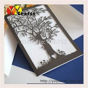 2016 hot sale laser cut invitation cards paper love tree With wedding invitation paper for sale